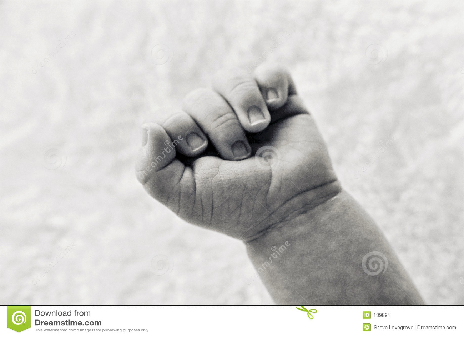 Mão dos bebês