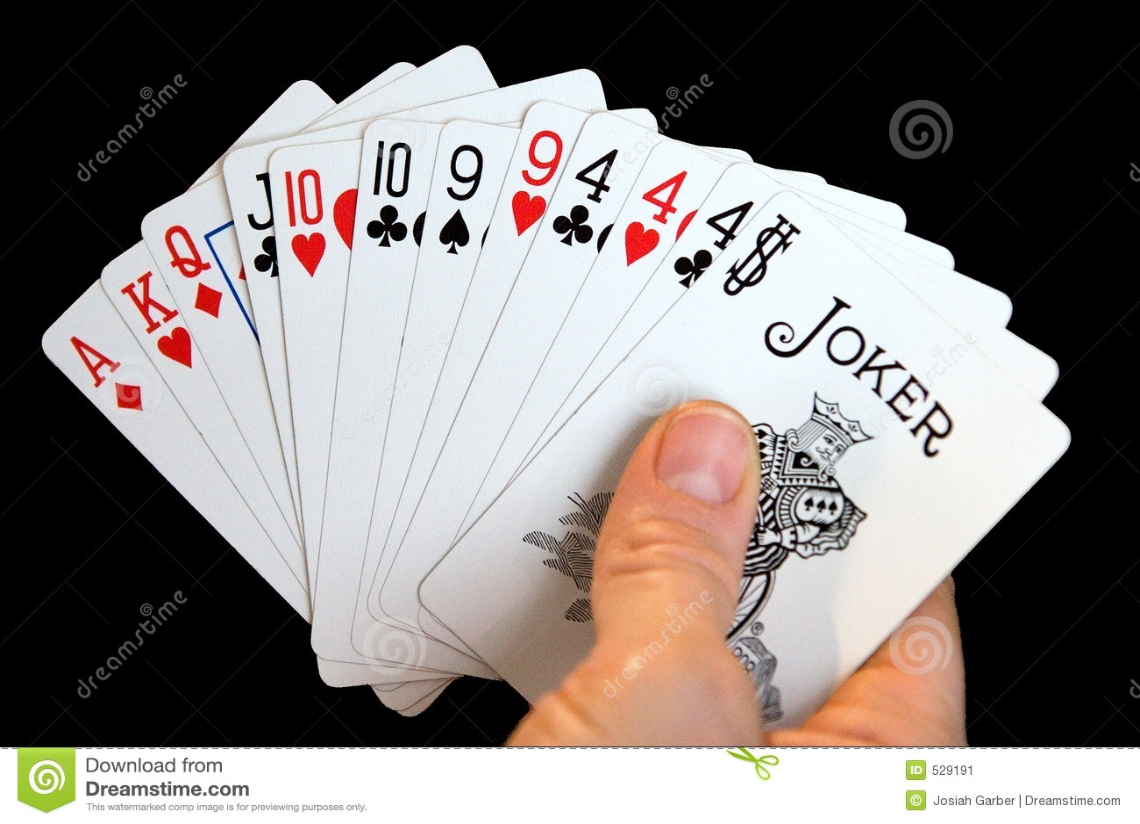 Mão dos cartões