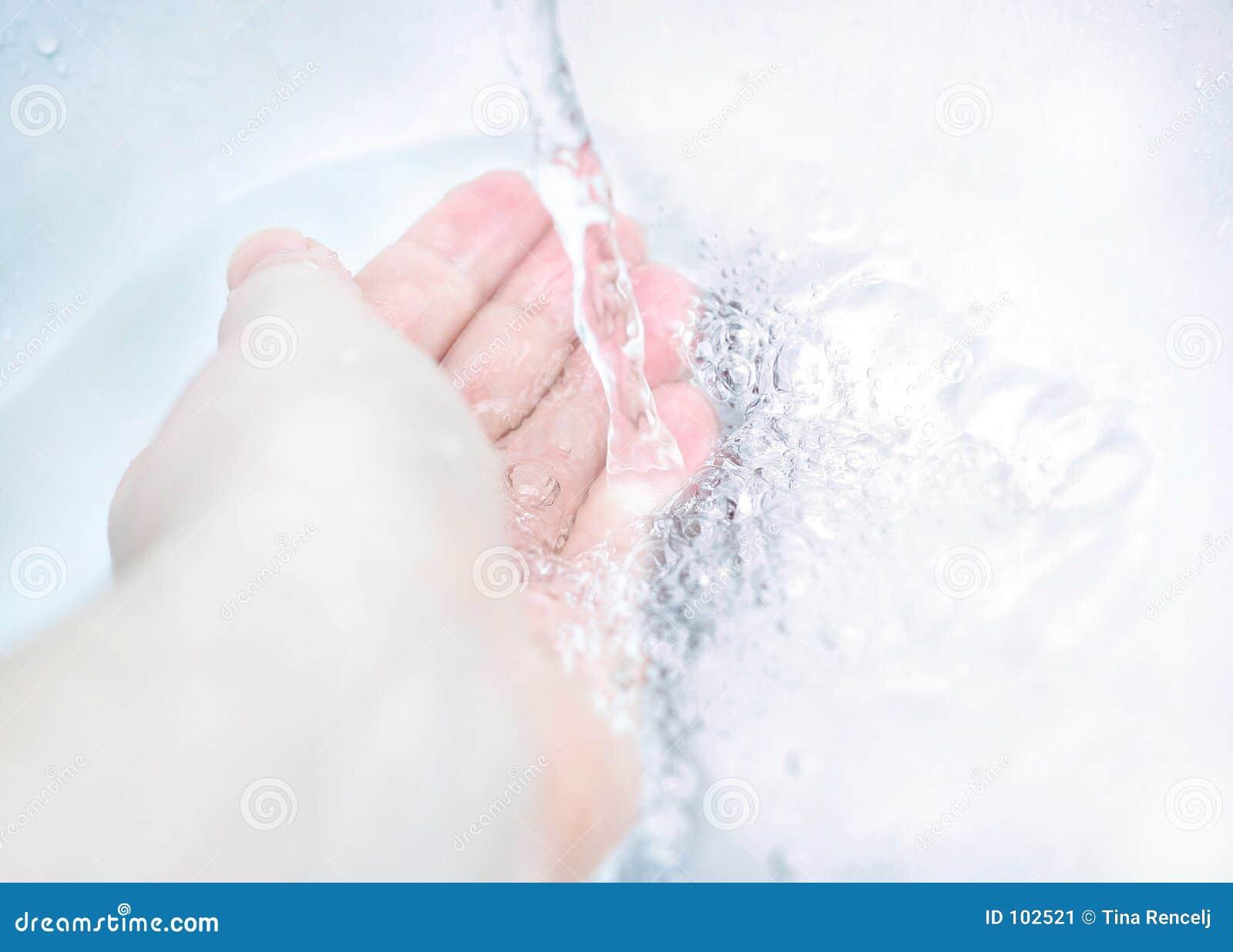 Mão e água