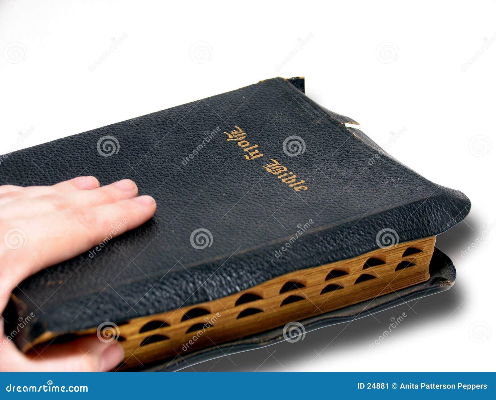 Mão e Bíblia