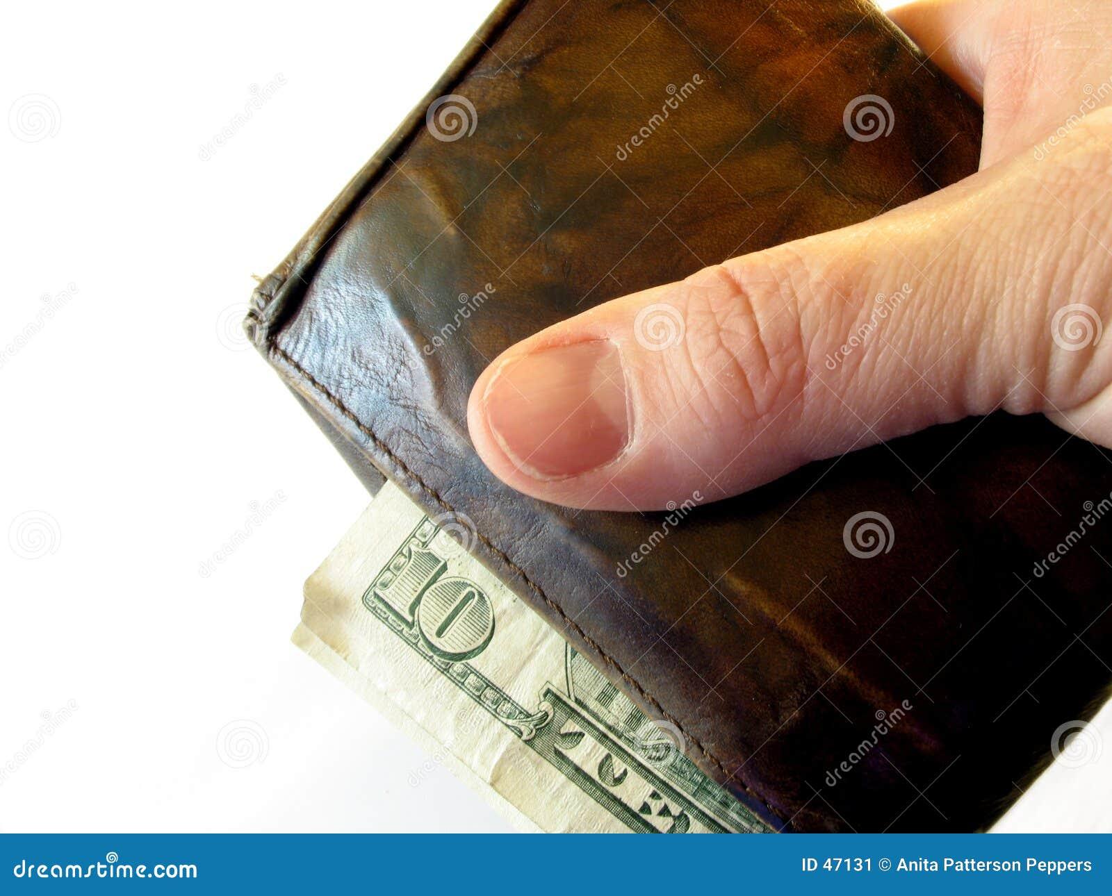Mão e carteira