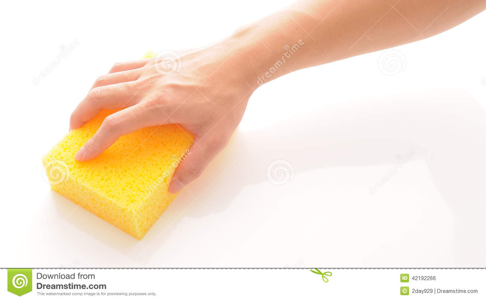 Mão e esponja