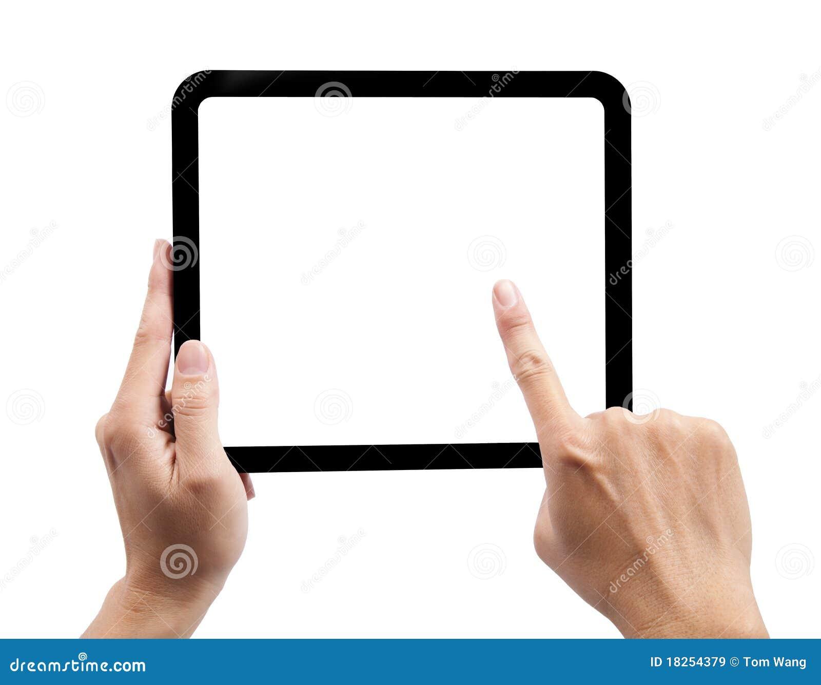 A mão e o touch-pad isolaram-se