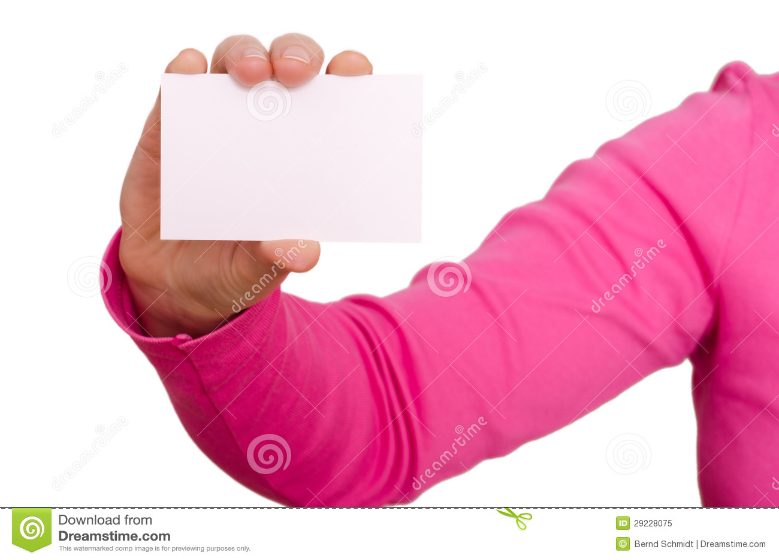 Download A Mão Fêmea Está Guardarando Um Cartão Vazio Imagem de Stock - Imagem de propaganda, blank: 29228075