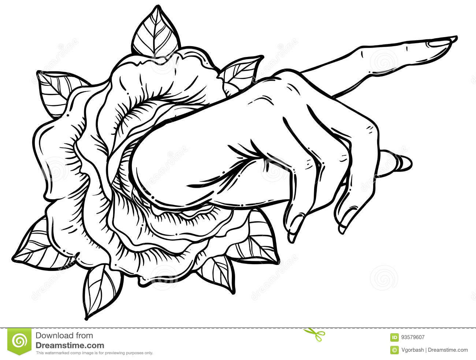 Mão fêmea que aponta em algo com dedo indicador Mostrando o direc
