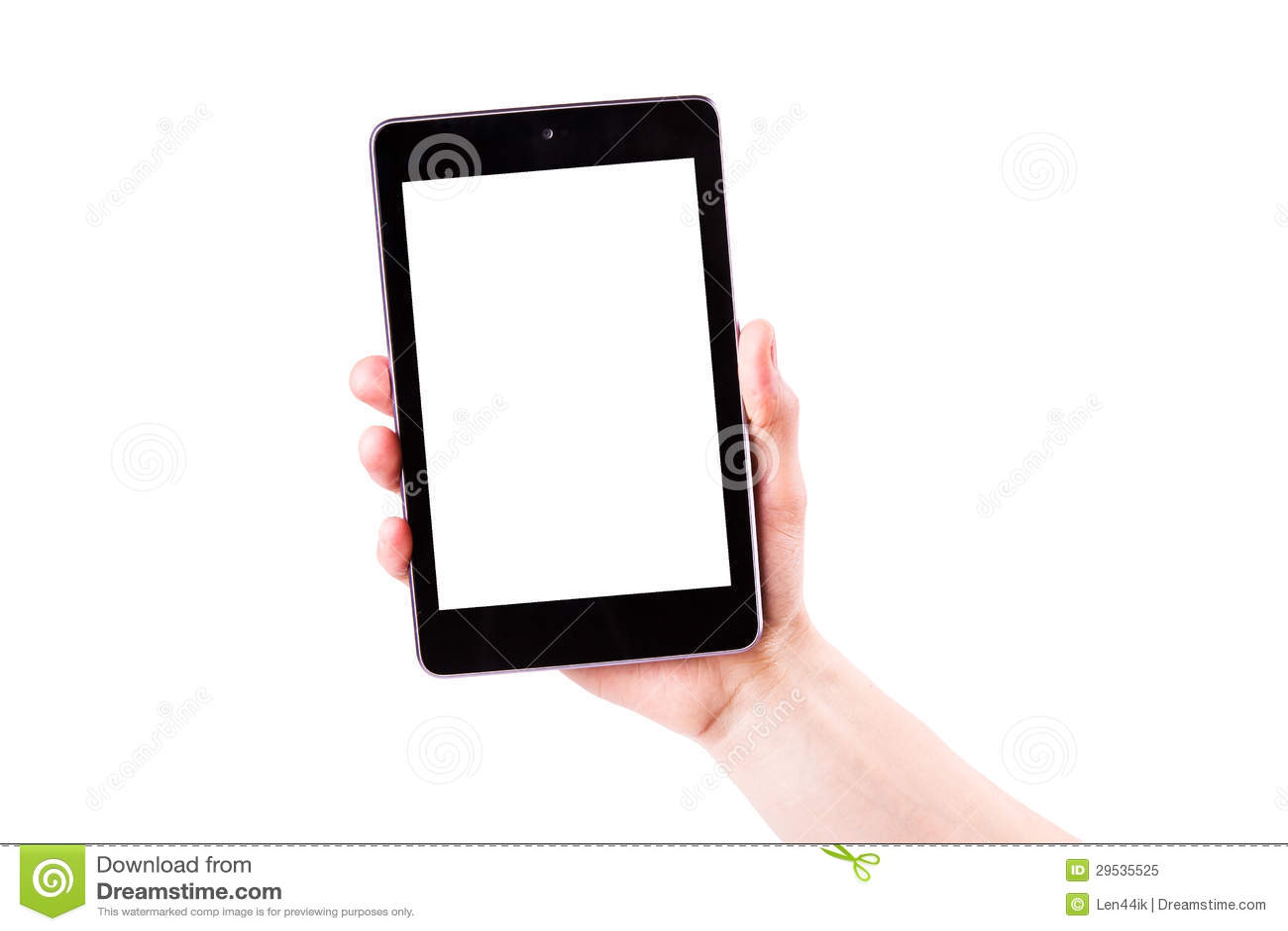 Mão masculina que guardara um PC da tabuleta com espaço para você texto