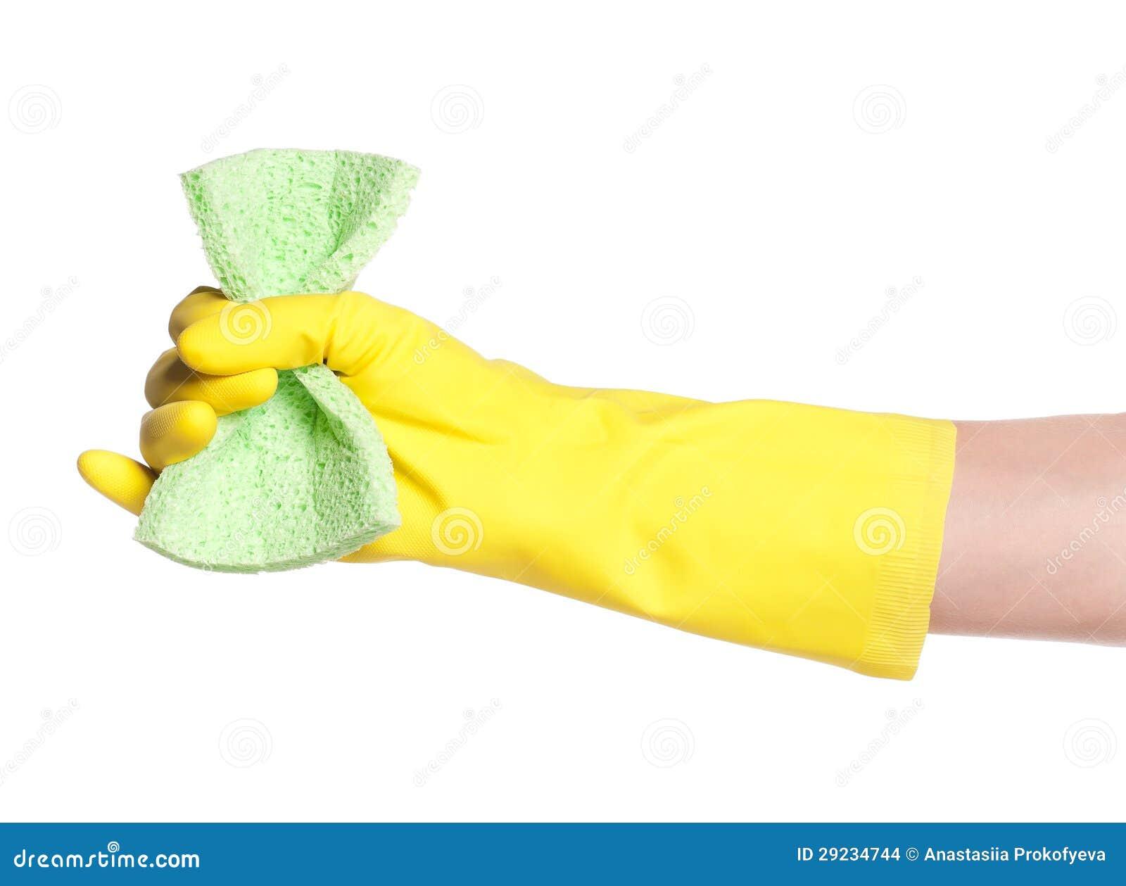 Download Mão na luva foto de stock. Imagem de housekeeping, limpo - 29234744