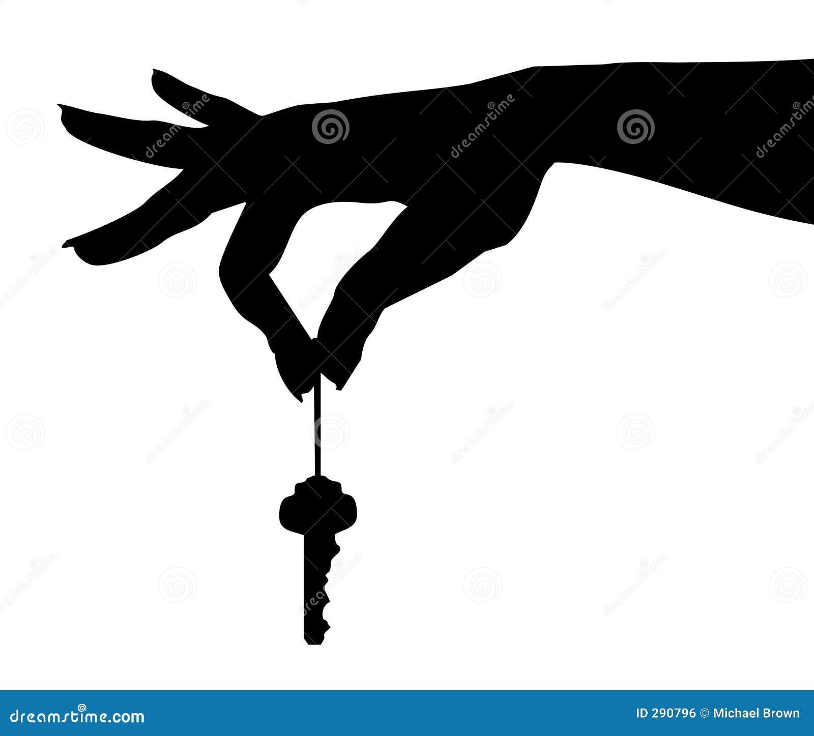 A mão oscila o Chave-vetor