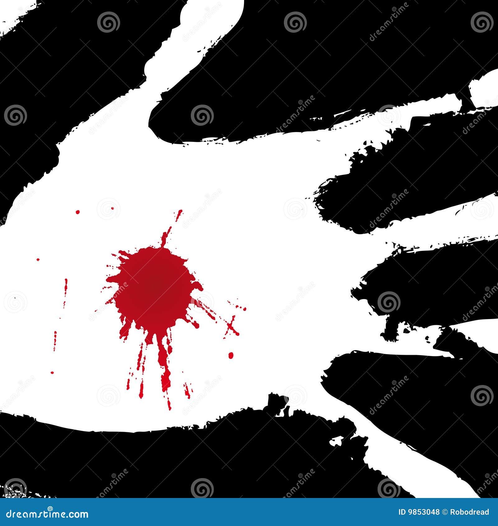 Mão perfurada (vetor)
