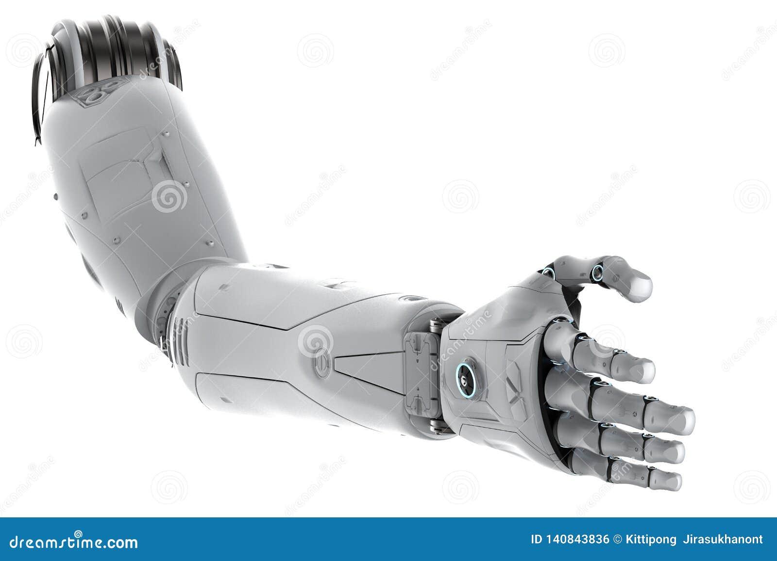 Mão robótico isolada