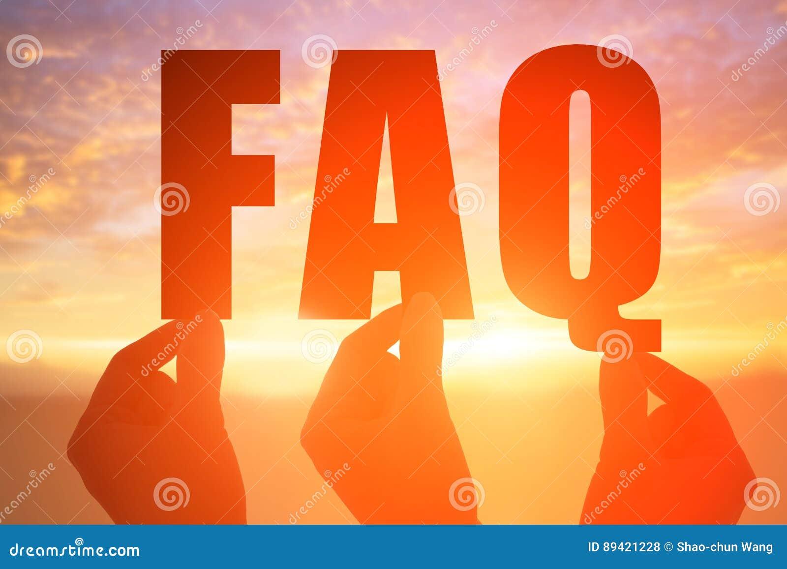 A mão toma a palavra do FAQ