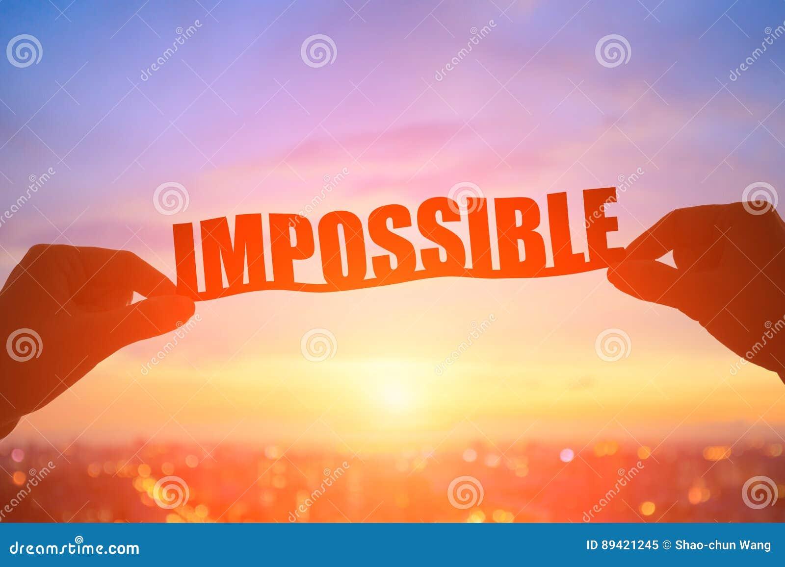 A mão toma a palavra impossível