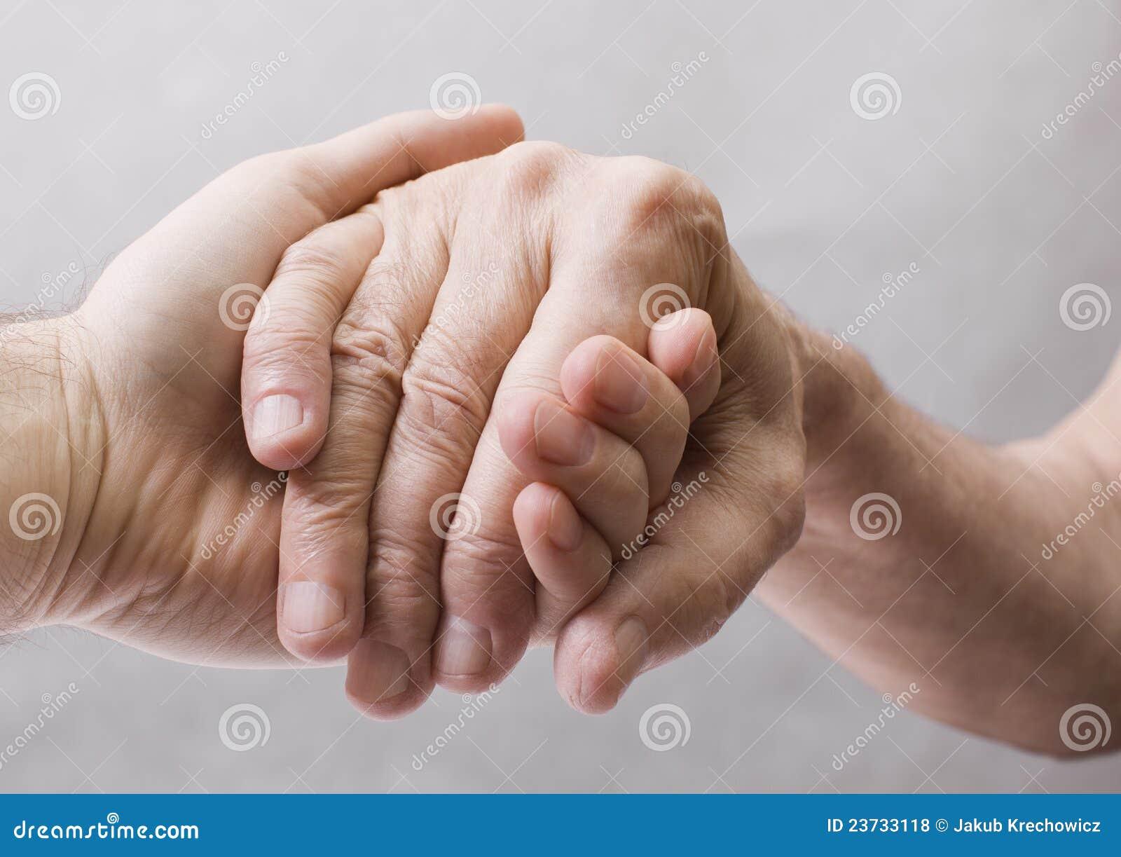 Mão velha e nova