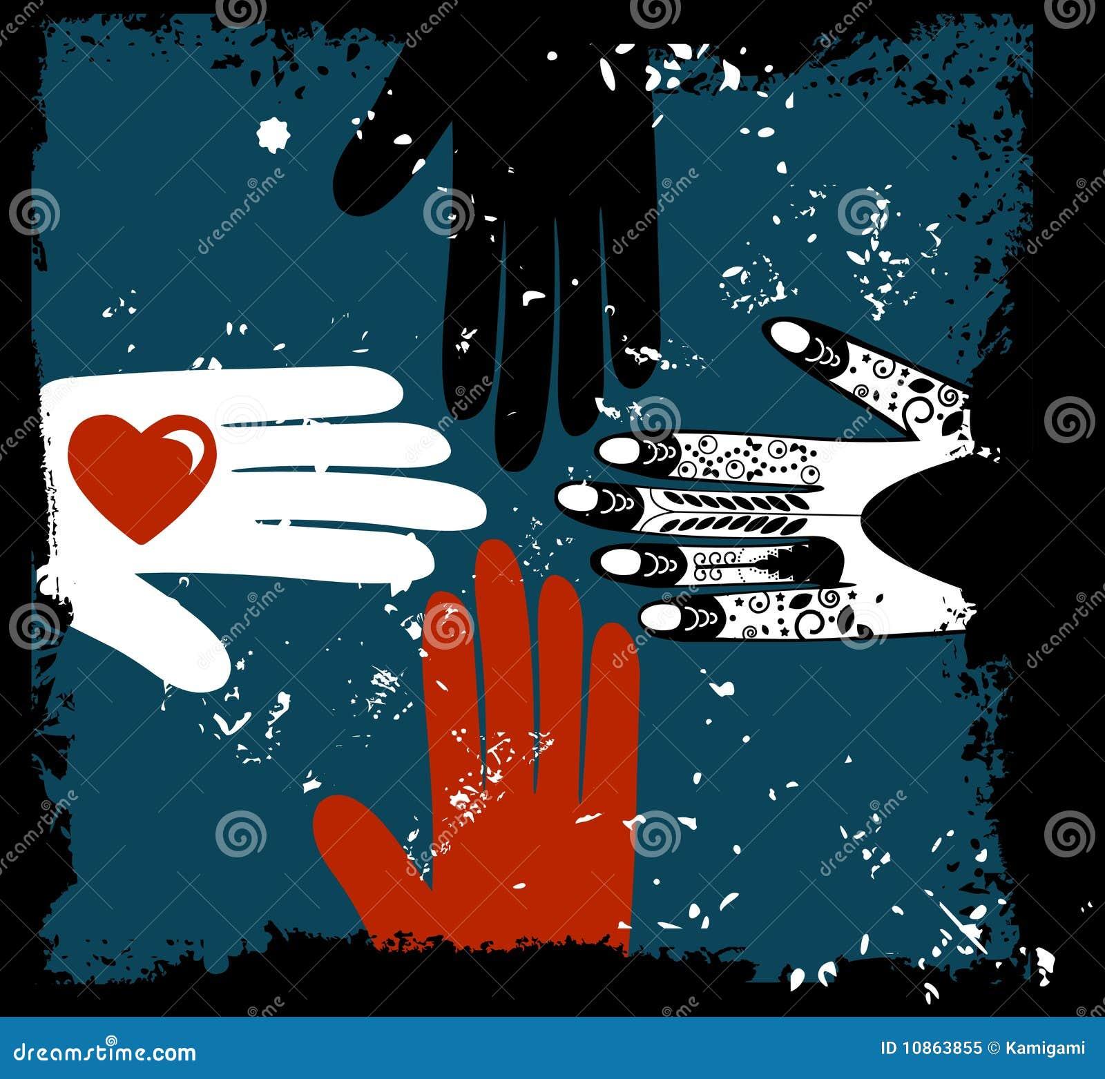Mãos étnicas