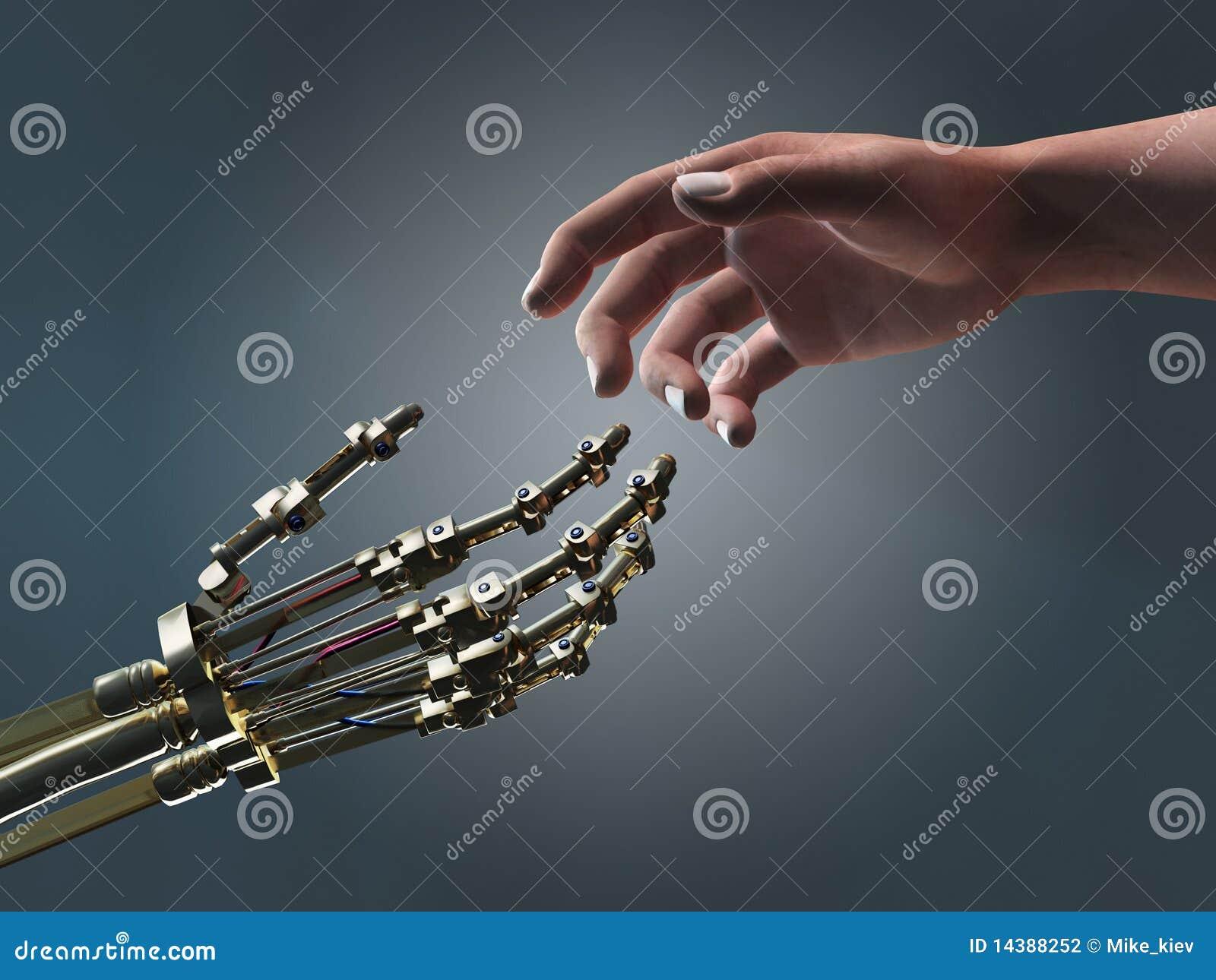 Mãos amiga do ser humano e do robô