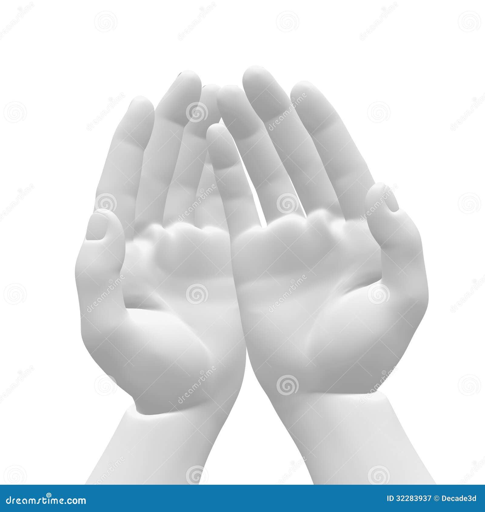 Mãos brancas