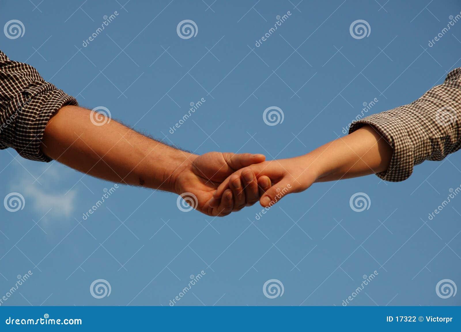 Mãos conectadas
