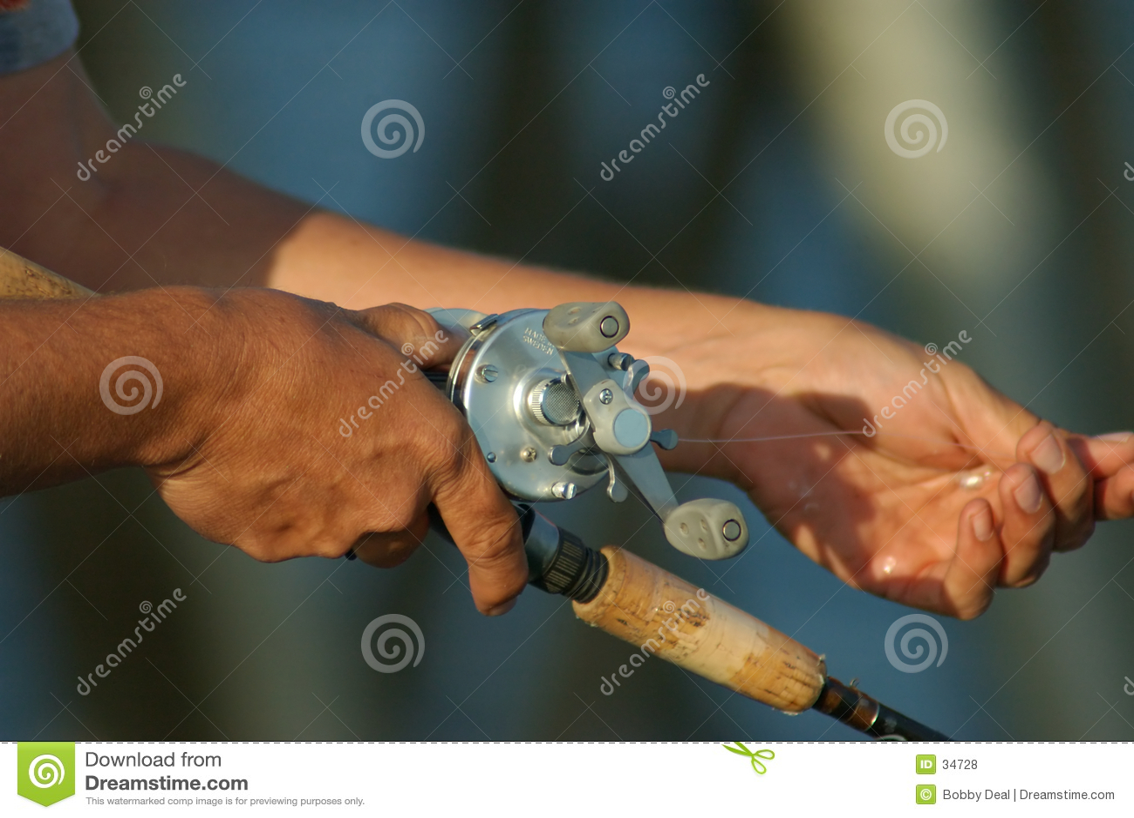 Mãos da pesca