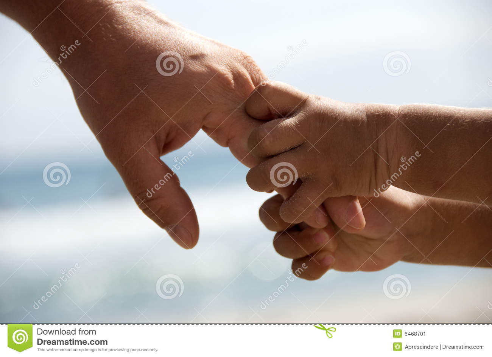 Mãos da terra arrendada do pai e do filho