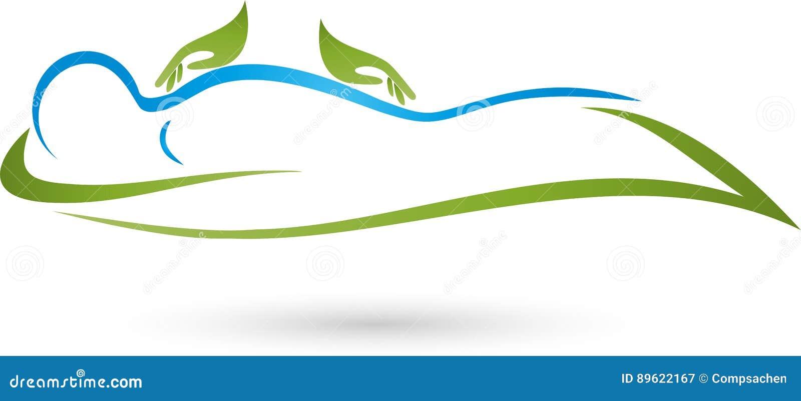 Mãos e humano, naturopath e logotipo da fisioterapia