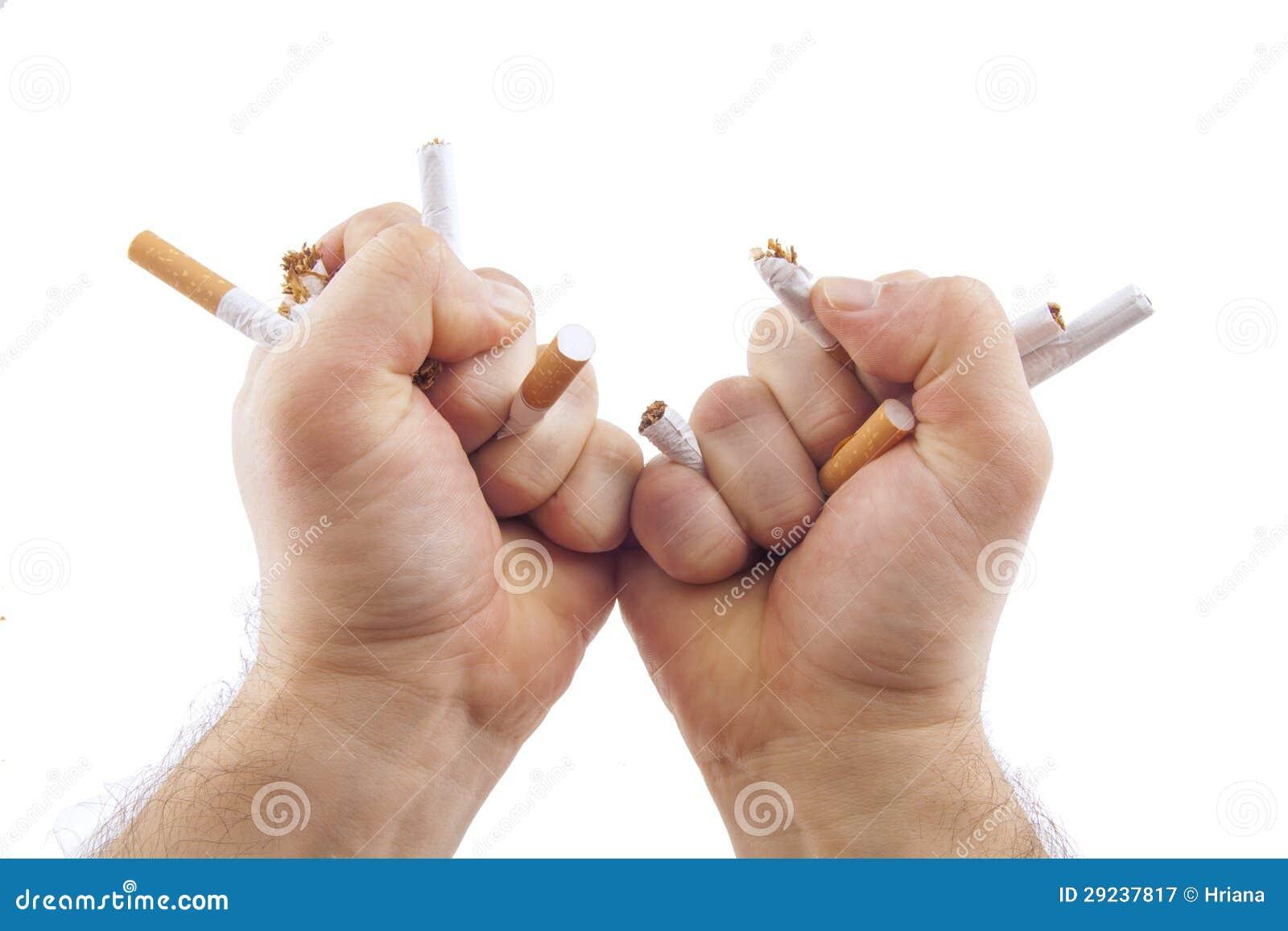 Download Mãos Humanas Que Quebram Cigarros Imagem de Stock - Imagem de superar, mãos: 29237817