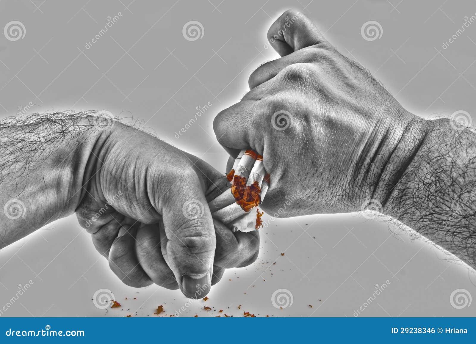 Download Mãos Humanas Que Quebram Violentamente Cigarros Foto de Stock - Imagem de prevenção, cigarros: 29238346