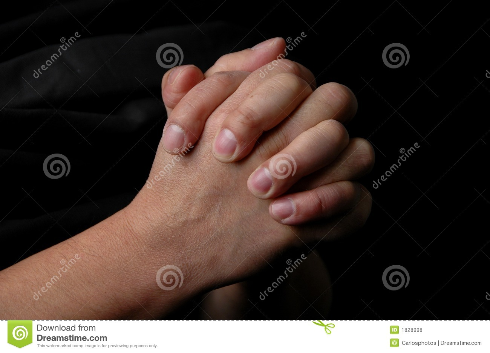 Mãos na oração