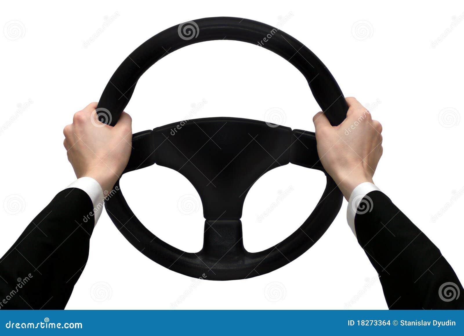 Mãos na roda de direcção