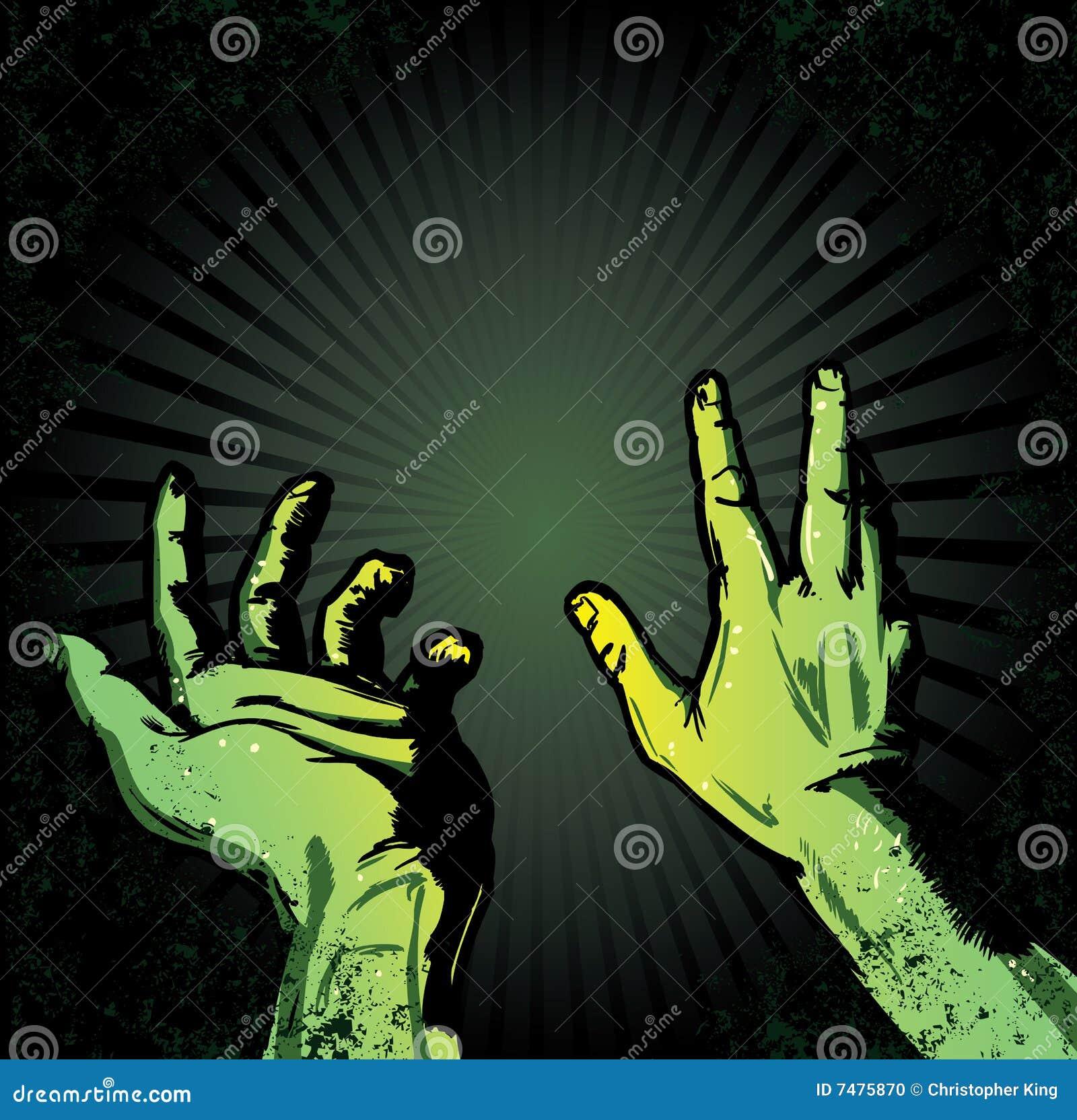 Mãos no medo da luz