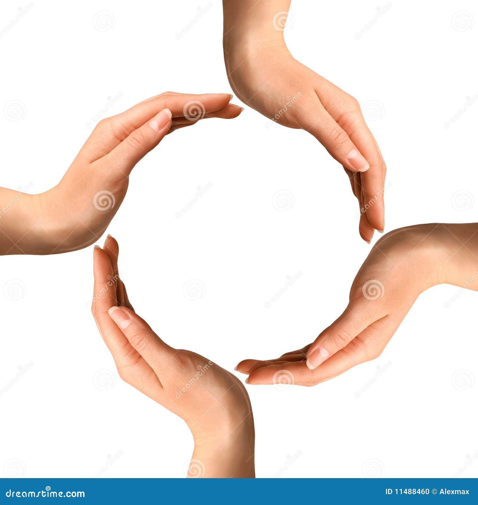 Mãos que fazem um círculo