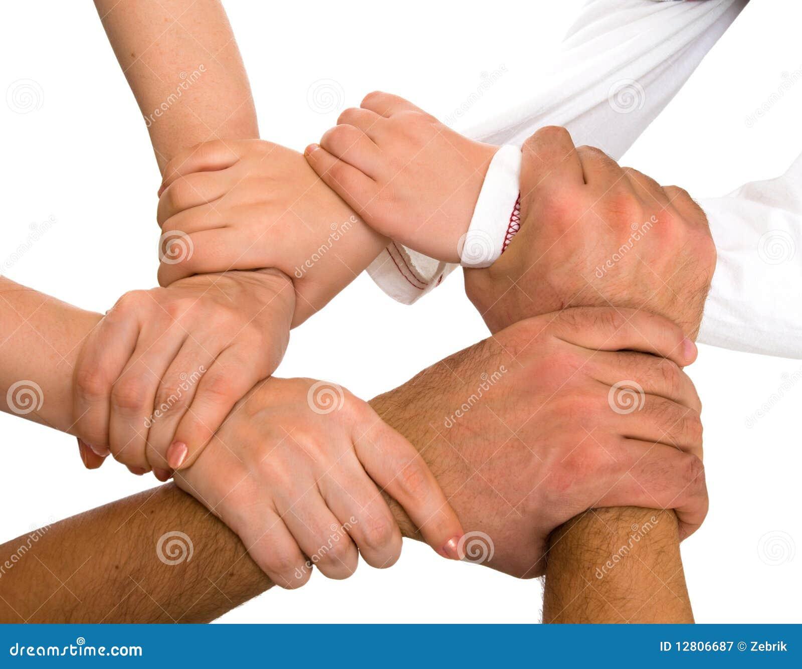 Mãos que prendem-se