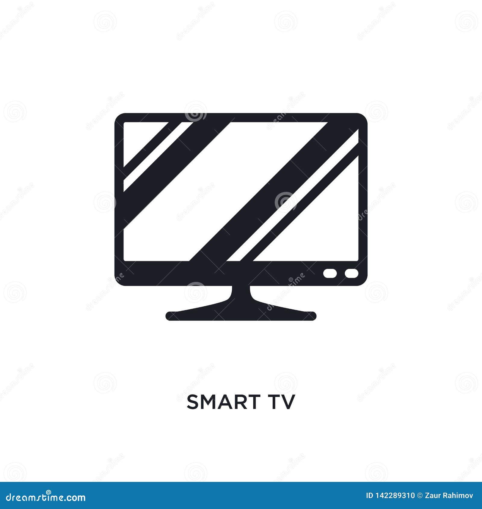 Mądrze tv odosobniona ikona prosta element ilustracja od urządzenia elektronicznego pojęcia ikon mądrze tv logo znaka editable sy