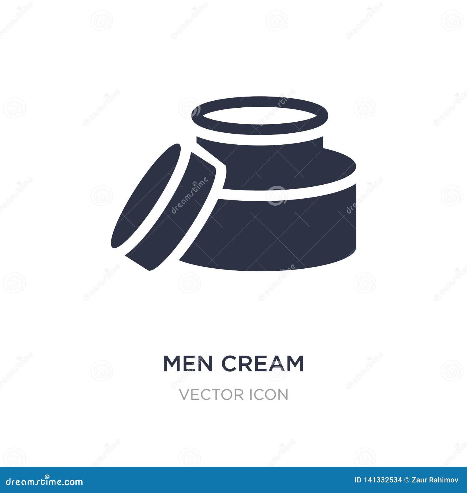 Mężczyzna kremowa ikona na białym tle Prosta element ilustracja od piękna pojęcia