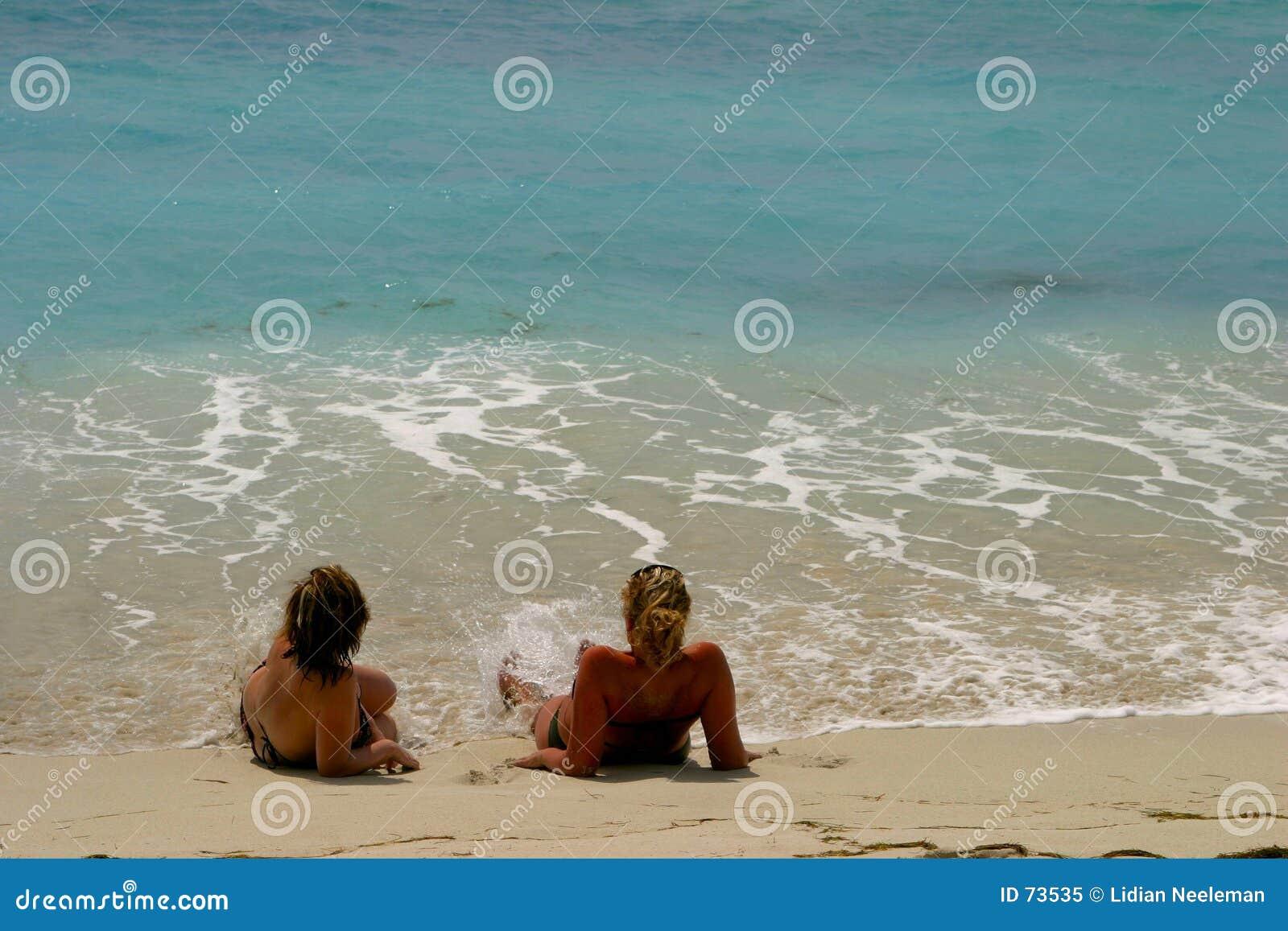 Mädchen auf Strand