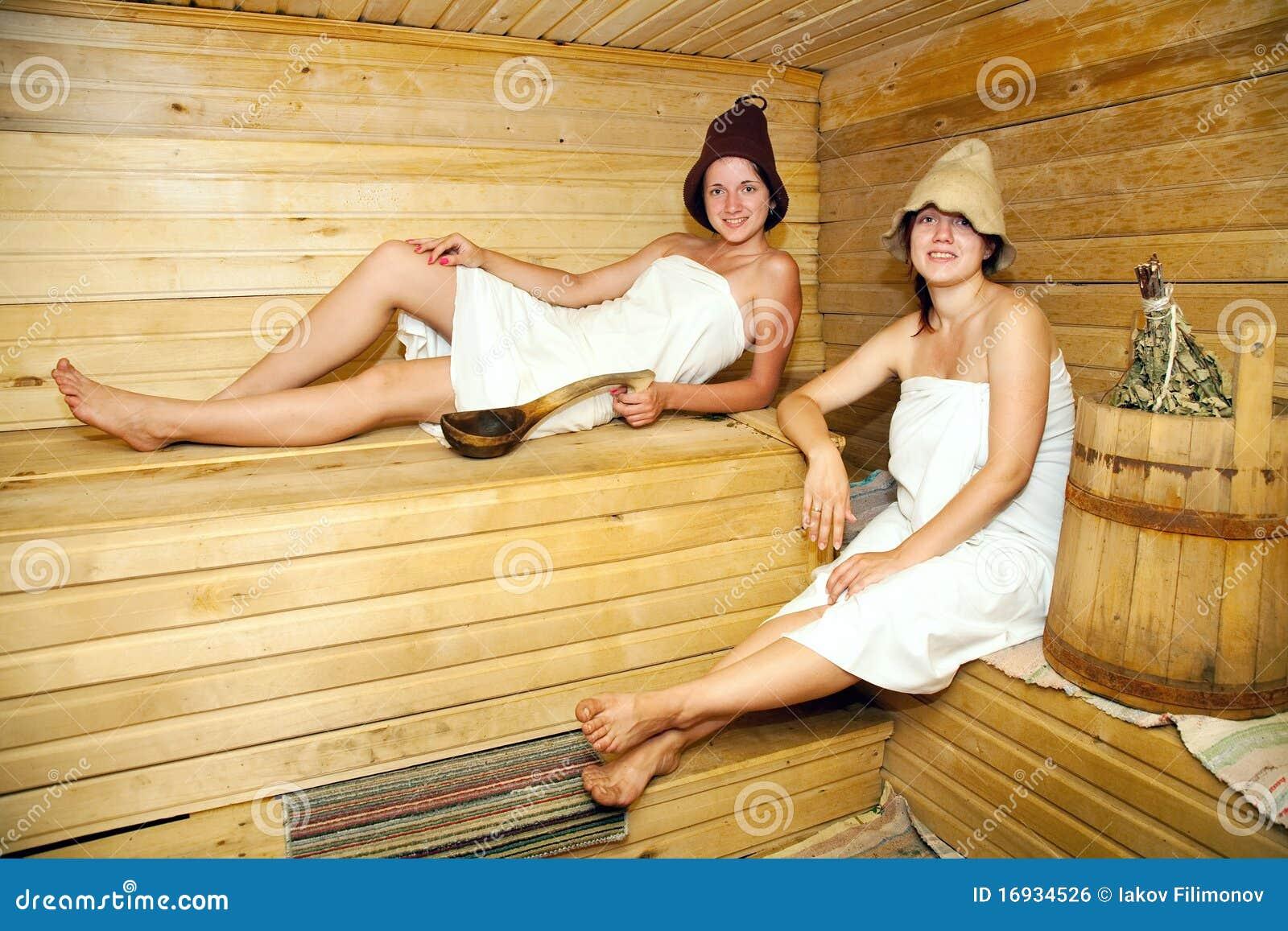 Mädchen In Sauna
