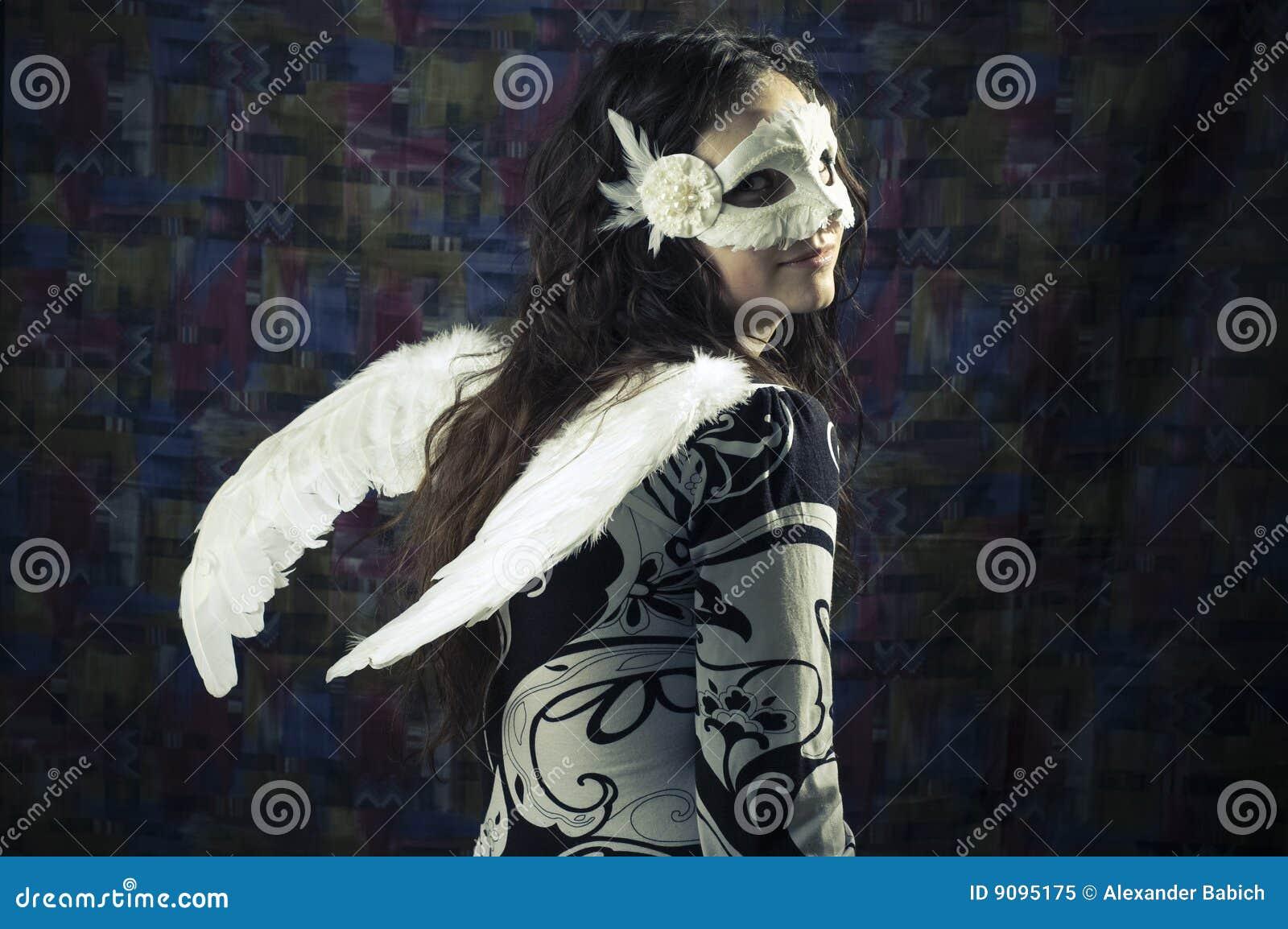 Mädchen in einer Schablone