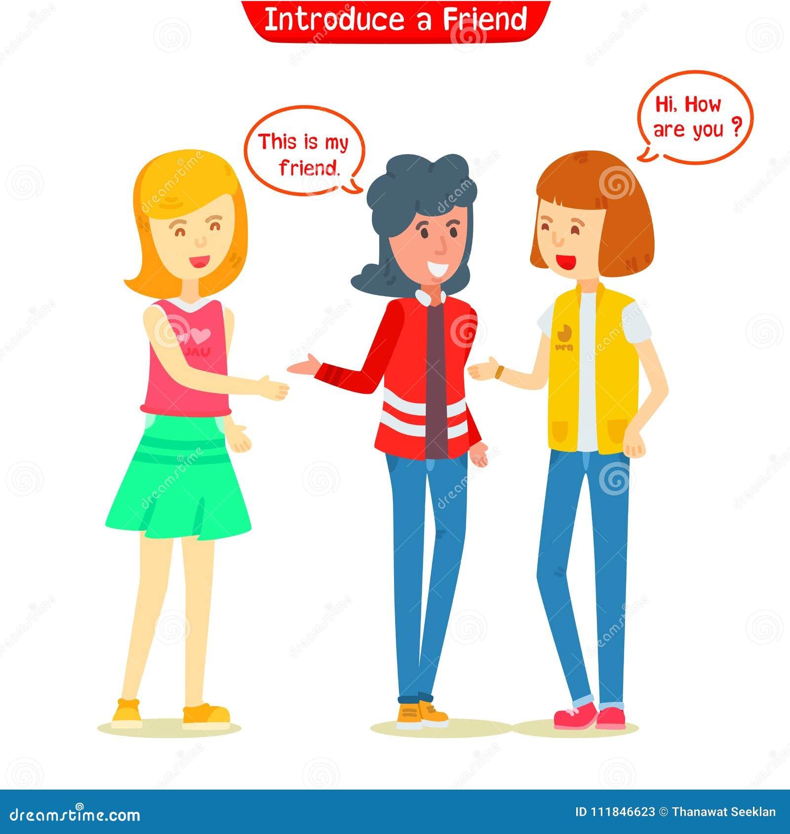 Mädchen eingeführter neuer Freund zu ihrem Freund