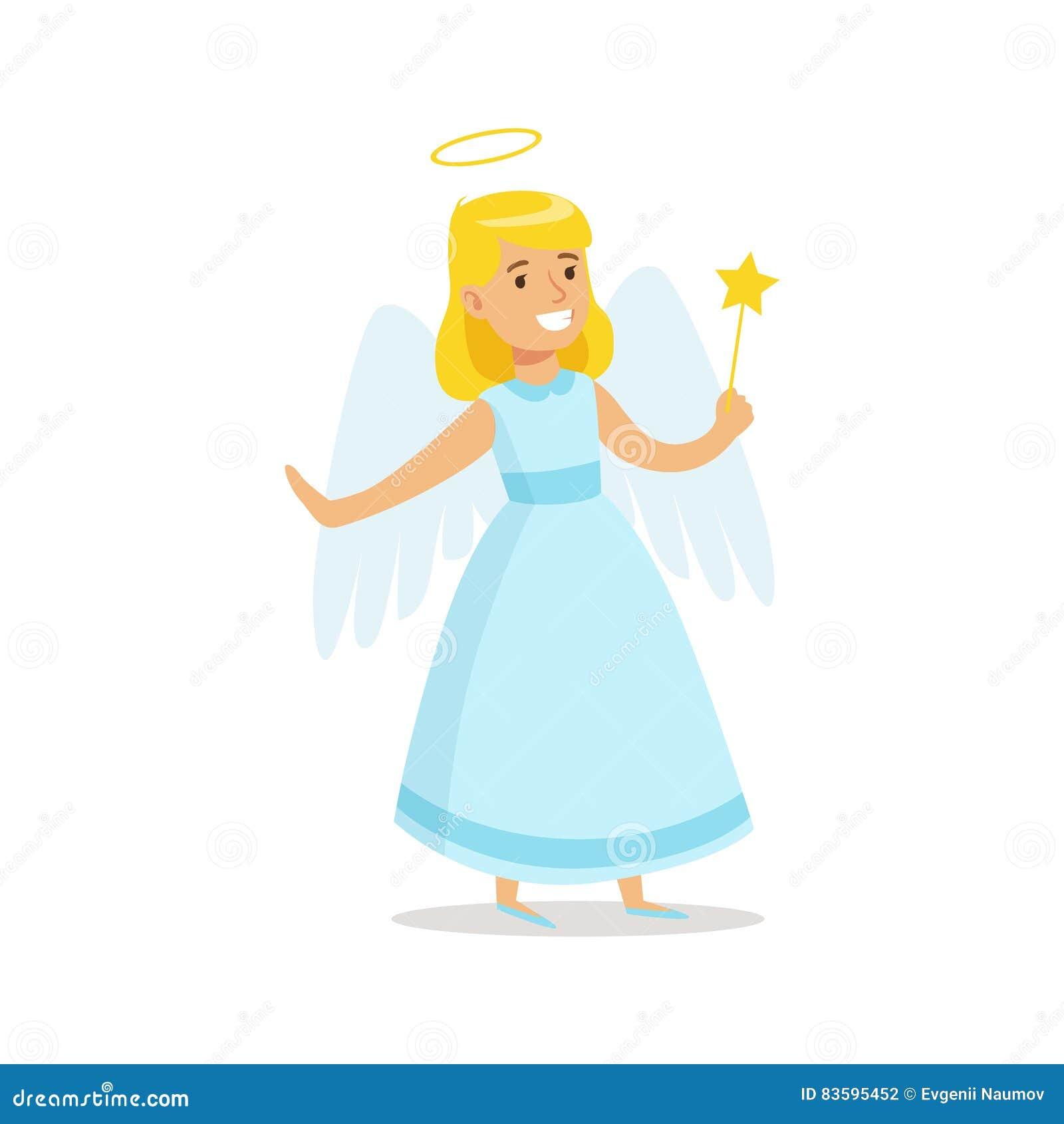 Mädchen Im Angel Outfit Dressed As Winter-Feiertags-Symbol Für Die ...