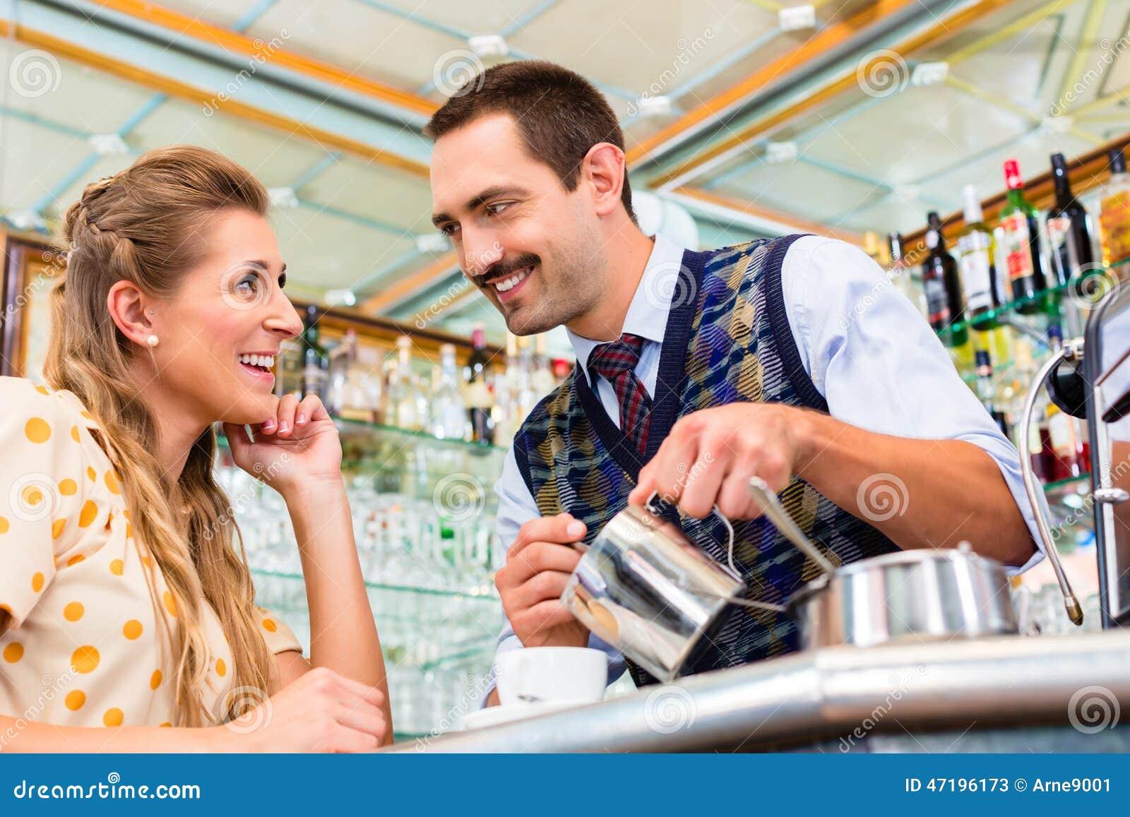 flirten im cafe