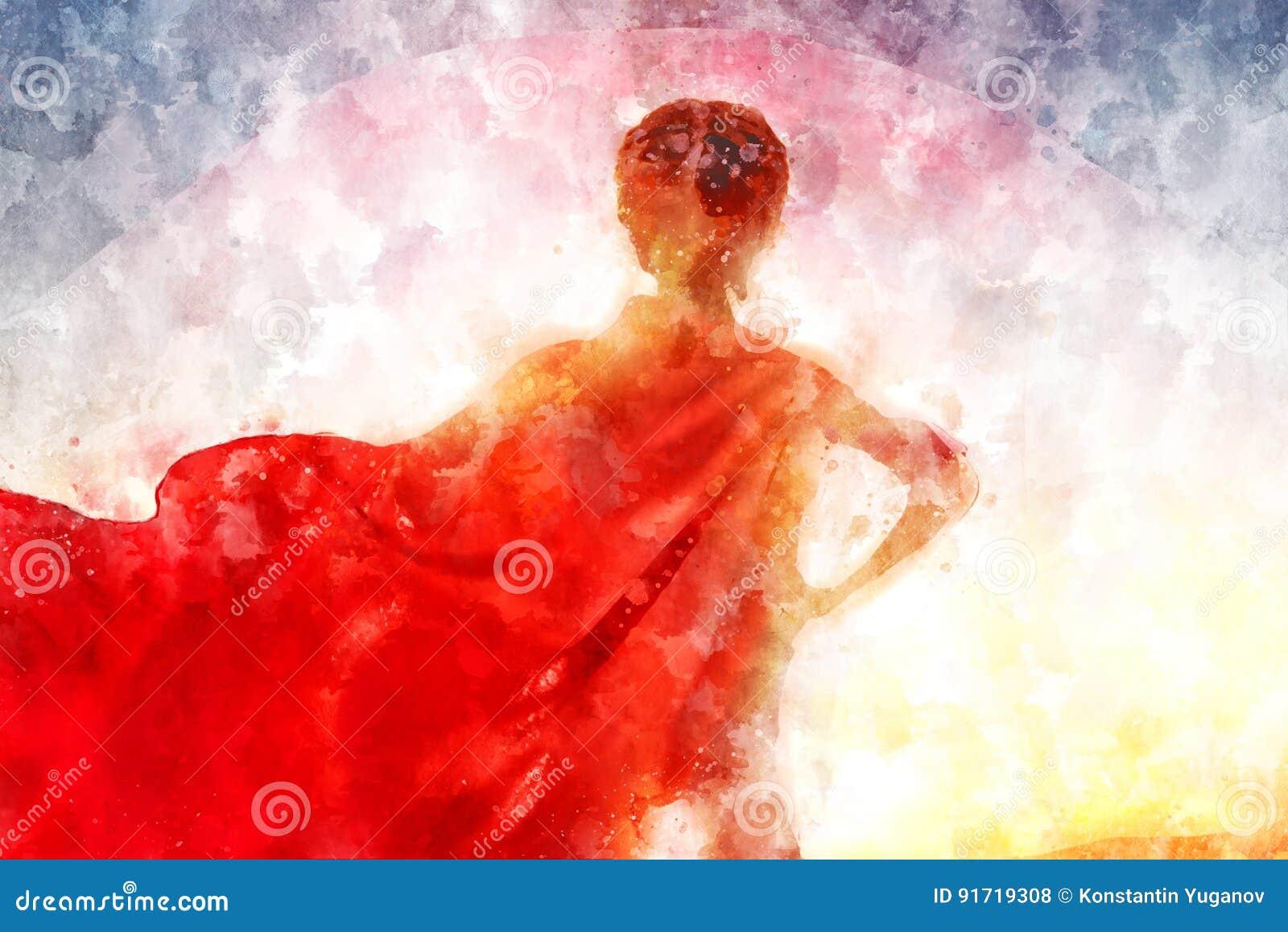 Mädchen im Superheldkostüm Abbildung