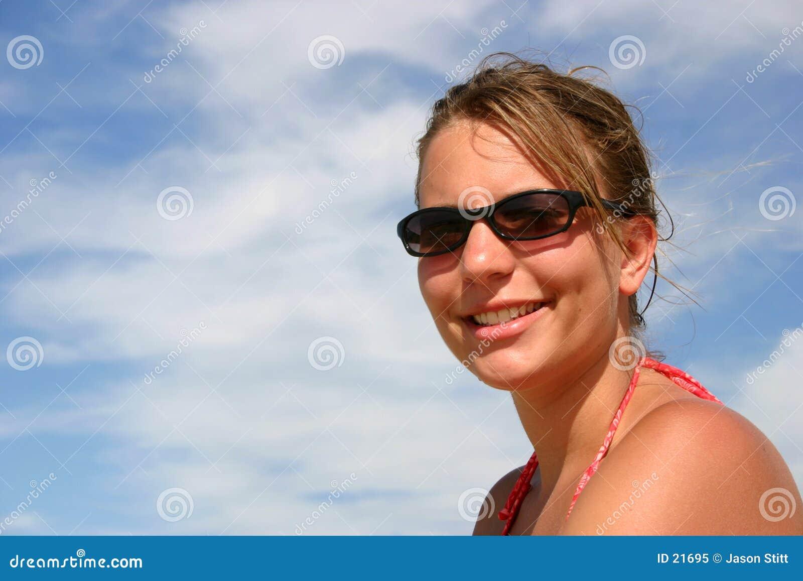 Mädchen-Lächeln