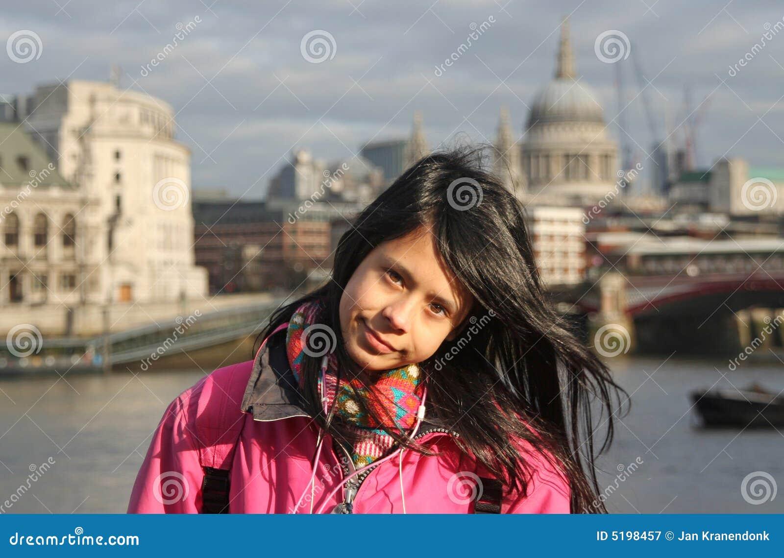 Schwarzes Mädchen aus london