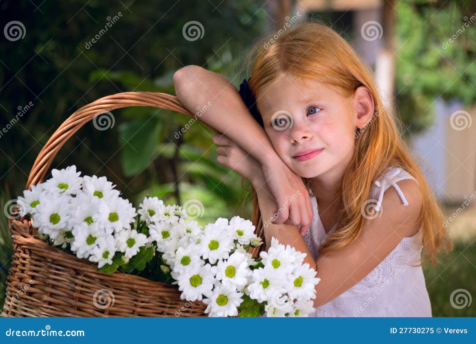 Mädchen mit Blumen