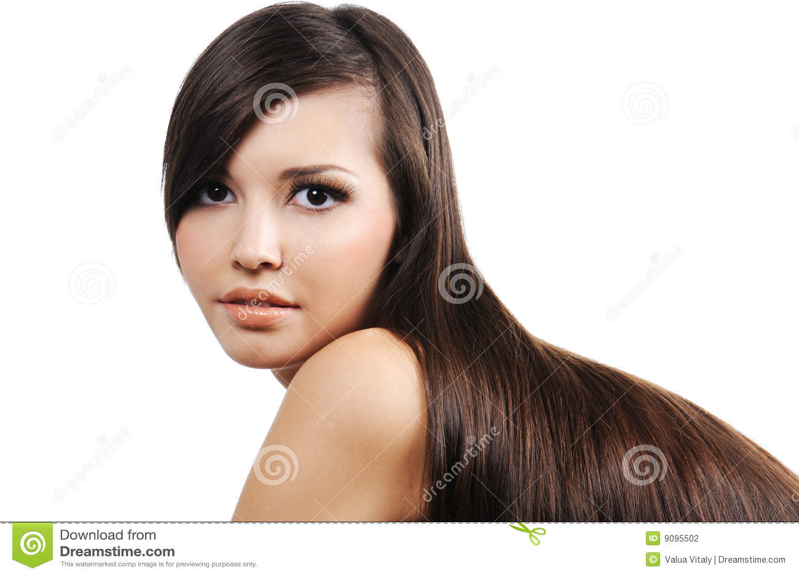 Mädchen mit den langen braunen Haaren