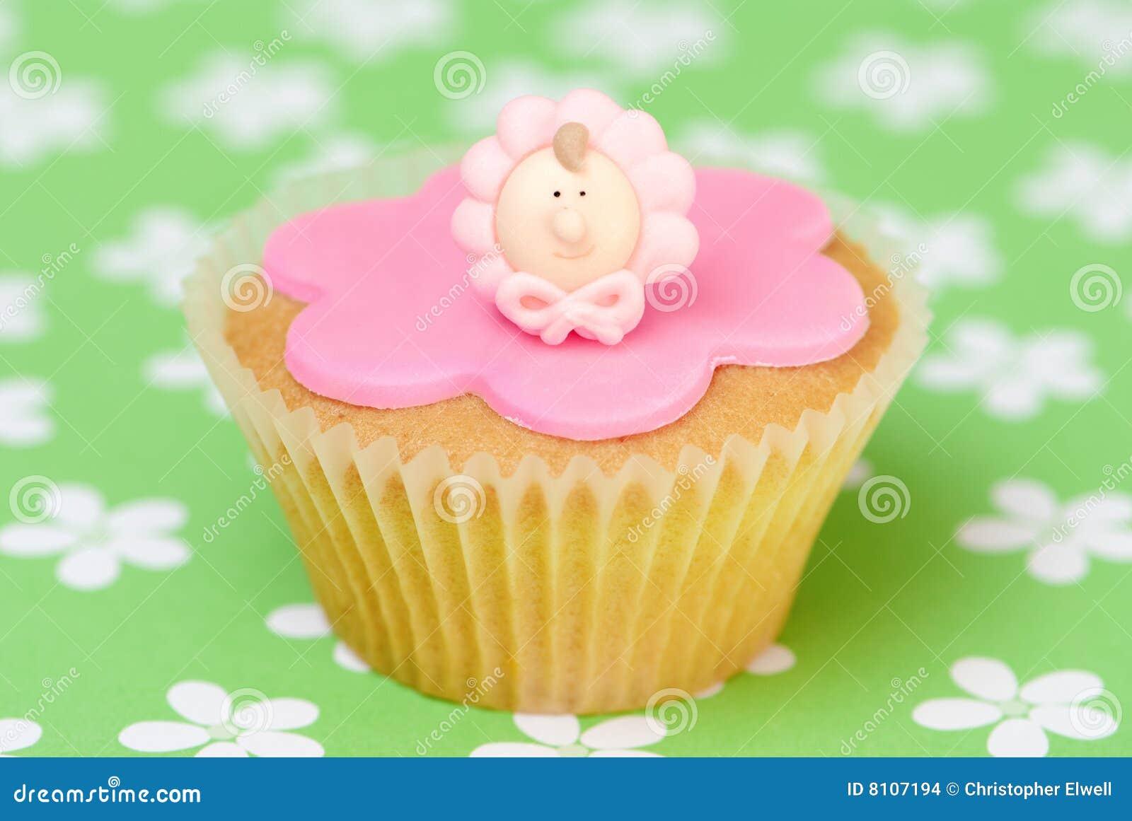 Madchen Rosa Kuchen Stockfoto Bild Von Madchen Taufen 8107194