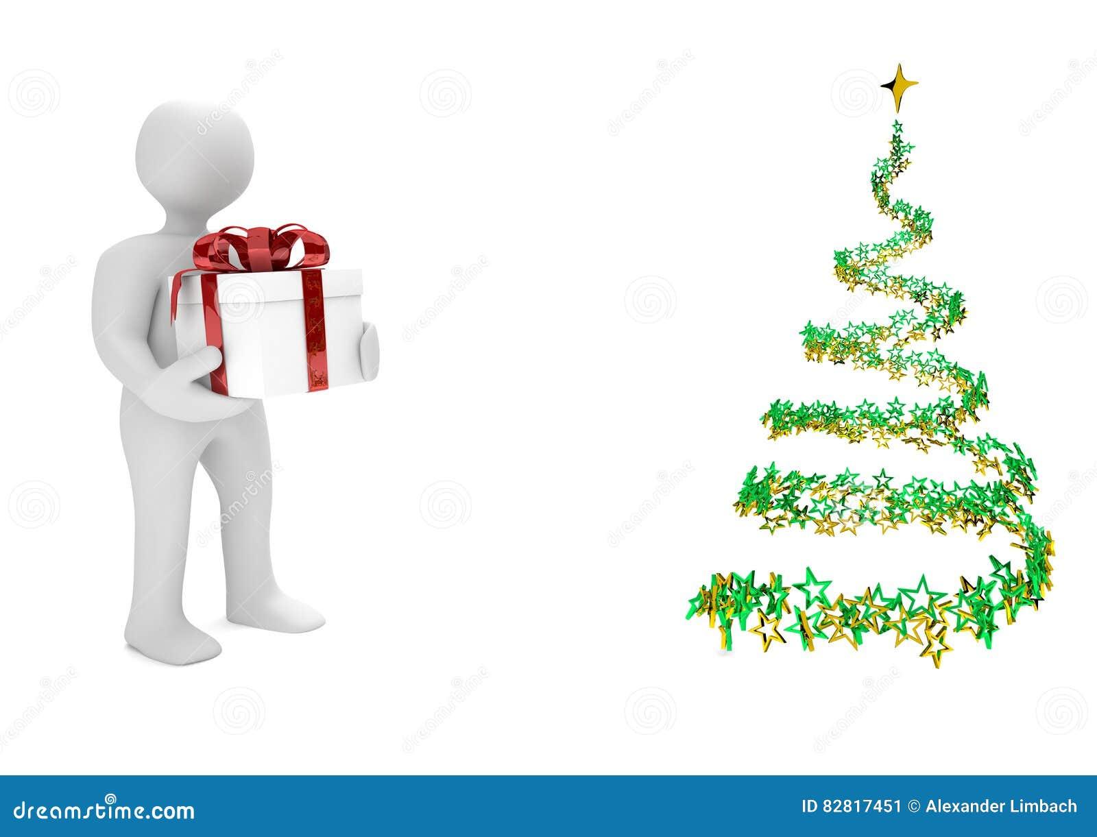 Sterne Für Weihnachtsbaum.Männchen Karton Weihnachtsbaum Sterne Stock Abbildung Illustration