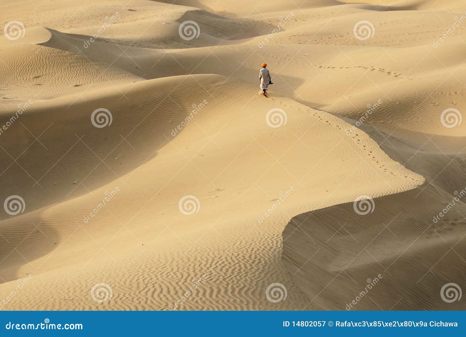 Männer auf der Wüste