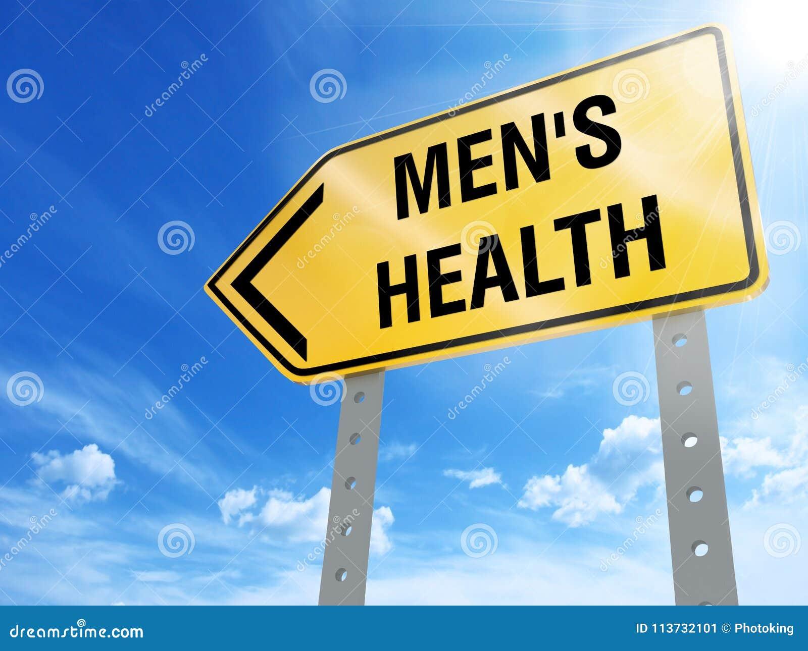 Männer ` s Gesundheitszeichen