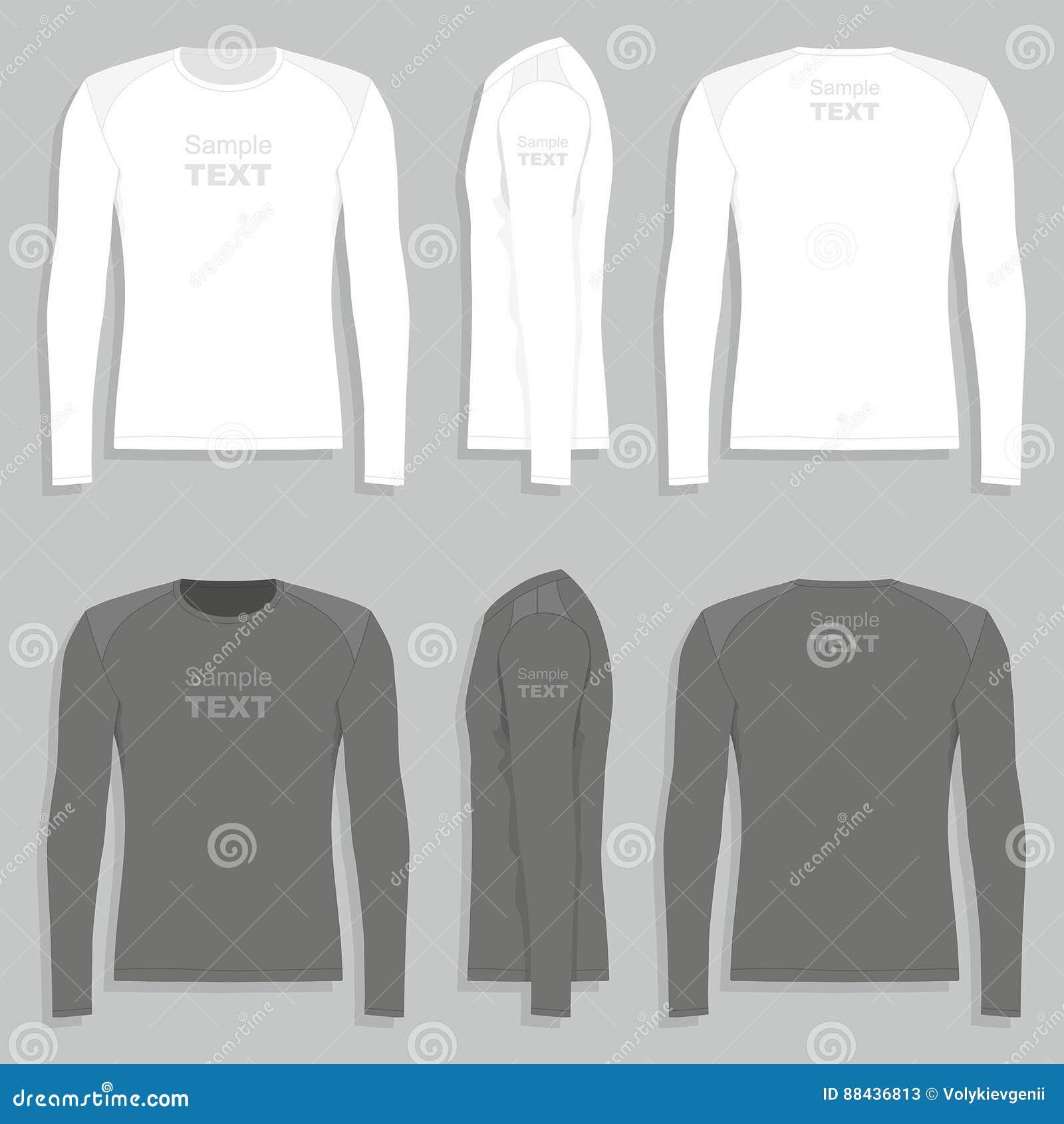 cc5d5721e686e6 Männer ` S Langärmliges T-Shirt Vektor Abbildung - Illustration von ...
