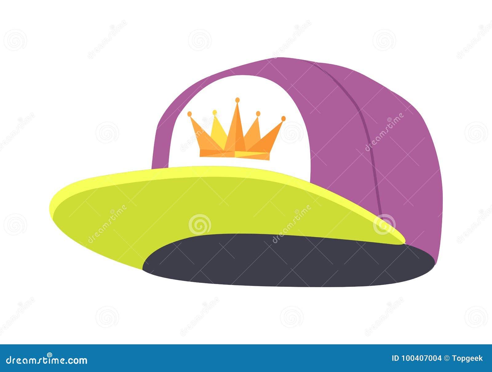 Männliche bunte Pochen-Kappe Getrennte Abbildung